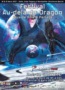L'affiche de la deuxième édition du Festival Au Delà du Dragon, par Vincent Laïk
